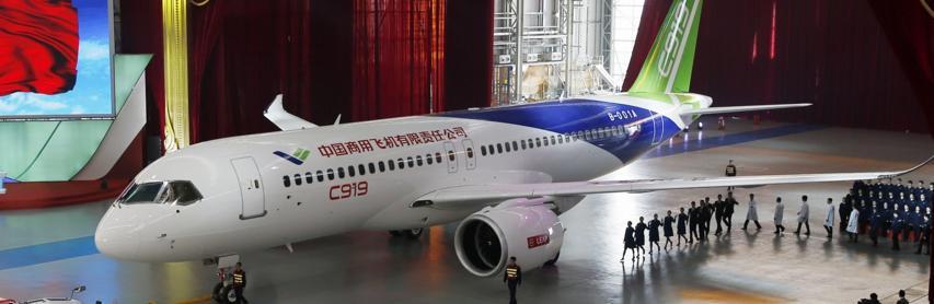 Le nouvel avion chinois, le Comac c919